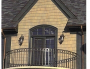 finelli iron works handmade custom wrought iron balcony in hunting valley ohio