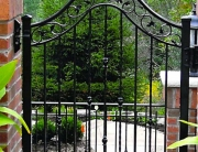 finelli iron works handmade custom iron backyard patio gate in hudson ohio