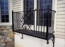 finelli iron works custom handmade wrought iron exterior bedroom balcony in avon lake ohio