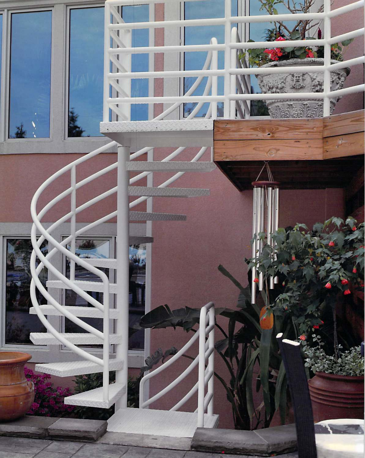 Finelli ironworks two story iron staircase finelli ironworks for 2 story spiral staircase