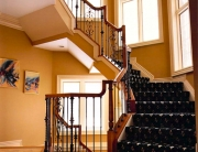 finelli ironworks custom iron and wood traditional style staircase railing system in columbus ohio