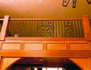 Finelli architectural iron and stairs custom aluminum scroll balcony railing in gates mills ohio