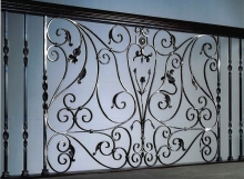 Finelli architectural iron and stairs custom forged panel design in gates mills ohio