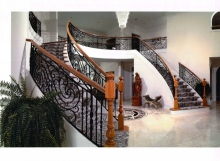 finelli iron works handmade custom forged iron traditional style staircase and railing system in shaker heights ohio