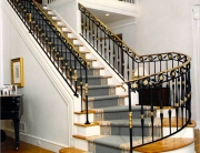 finelli iron works handmade custom iron and brass staircase system traditional design in bay village