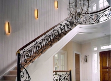 finelli iron works custom iron hand forged traditional design staircase railing system in columbus ohio