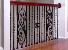 traditional hand made railing