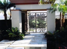 tropical style gate
