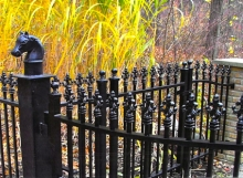finelli architectural iron and stairs custom exterior horse cap fence in hudson ohio