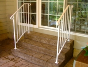 finelli iron custom back porch wrought iron staircase railing in shaker ohio