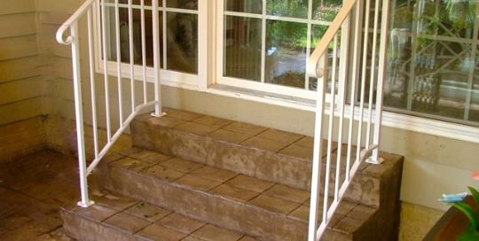 finelli iron custom back porch wrought iron staircase railing in shaker ohio