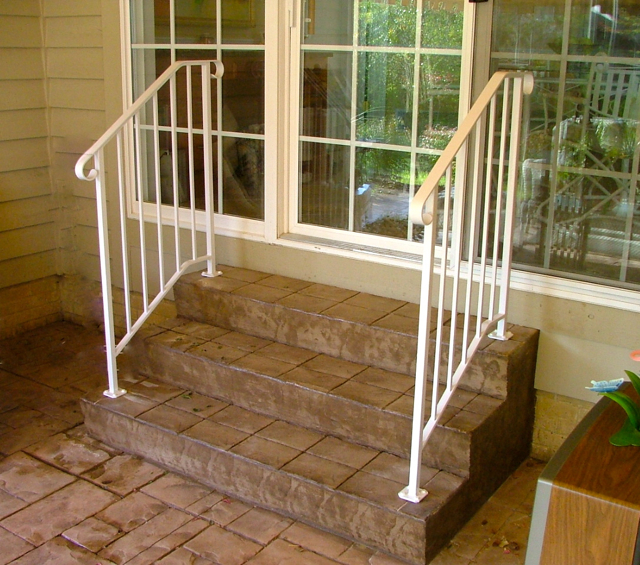 Back Patio Step Railing