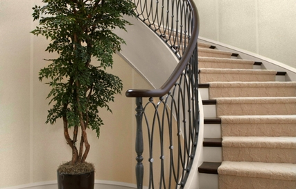 finelli ironworks handmade custom iron modern design staircase railing in bay ohio