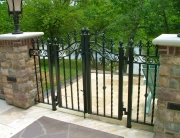 finelli architectural iron and stairs custom exterior decorative wrought iron pool patio gate in chagrin falls ohio