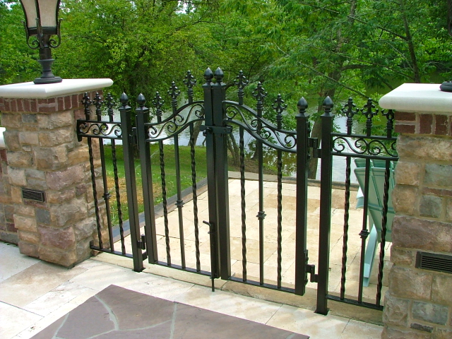 Attractive Finelli Architectural Iron And Stairs Custom Exterior Decorative Wrought  Iron Pool Patio Gate In Chagrin Falls
