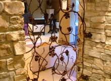 Finelli architectural iron and stairs custom forged vine style wine cellar gate in columbus ohio