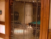 Finelli architectural iron and stairs custom handmade decorative basement door/gate in columbus ohio