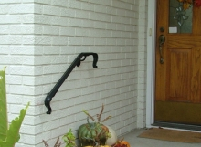 finelli architectural iron and stairs custom handmade exterior wall railing in hudson ohio