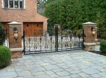 finelli architectural iron and stairs custom hand forged driveway gate in bay village ohio
