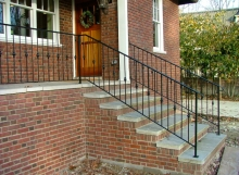 finelli iron and stairs custom front porch heavy duty iron step railing in gates mills ohio