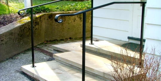 finelli iron custom exterior front porch frame railing in shaker heights ohio
