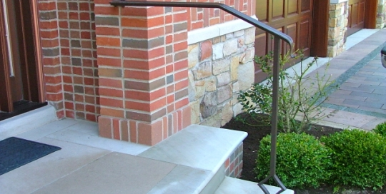 finelli iron and stairs custom exterior front step staircase railing in gates mills ohio