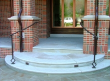 finelli iron custom handmade exterior front porch step railing in columbus ohio