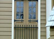 finelli ironworks custom handmade decorative exterior iron balcony in hudson ohio