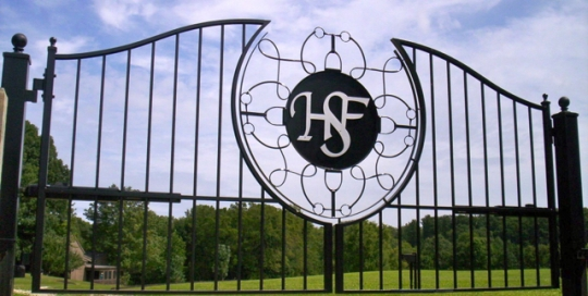Finelli Architectural Iron and stairs custom forged wrought iron driveway gate shaker hieghts ohio