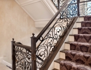 finelli ironworks custom handmade wrought iron vine style staircase railing system in pepper pike ohio