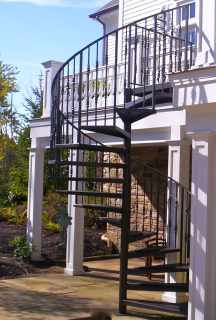 Patio To Balcony Spiral Staircase