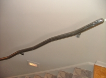 Finelli architectural iron and stairs custom elegant wall railing in columbus ohio