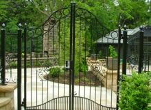 finelli architectural iron and stairs custom handmade iron pool and patio safety gate in shaker ohio