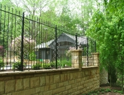finelli iron works handmade custom wrought iron decorative patio fence in chagrin falls ohio