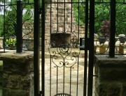 finelli iron and stairs custom exterior iron pool patio gate in chagrin falls ohio