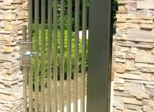 finelli architectural iron and stairs custom unique handmade contemporary design steel outdoor garden gate in gates mills ohio