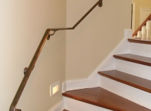 Finelli architectural iron and stairs custom transitional interior wall railing in columbus ohio