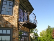 finelli ironworks custom handmade exterior wrought iron balcony in gates mills ohio