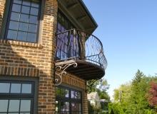 finelli ironworks custom handmade exterior wrought iron balcony in gates mills ohio
