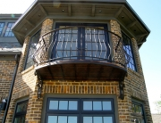 finelli ironworks custom handmade unique outdoor bedroom balcony made of wrought iron in gates mills ohio