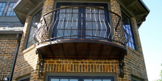 finelli ironworks custom handmade unique outdoor bedroom balcony made of wrought iron in gates mills ohio