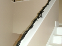 Finelli architectural iron and stairs custom unique vine style railing hand forged westlake ohio