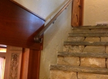 Finelli ironworks custom handmade iron wall railing in columbus ohio
