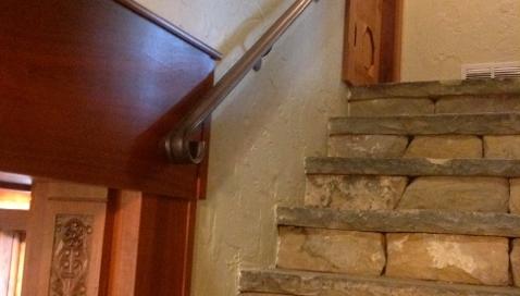 Finelli ironworks custom handmade iron wall railing in columbus ohio
