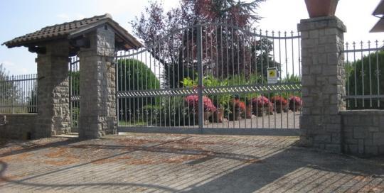 custom strong iron driveway gate