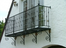 finelli iron works custom handmade wrought iron exterior balcony in hudson ohio