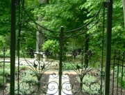 finelli architectural iron and stairs custom exterior iron garden gate in chagrin falls ohio