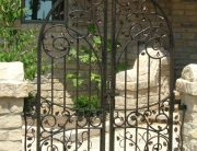 finelli iron works custom exterior iron decorative pool gate in westlake ohio