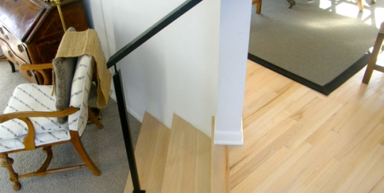 Finelli architectural iron and stairs custom iron frame step railing in solon ohio