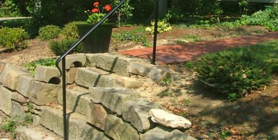 finelli iron custom exterior iron staircase frame railing in columbus ohio